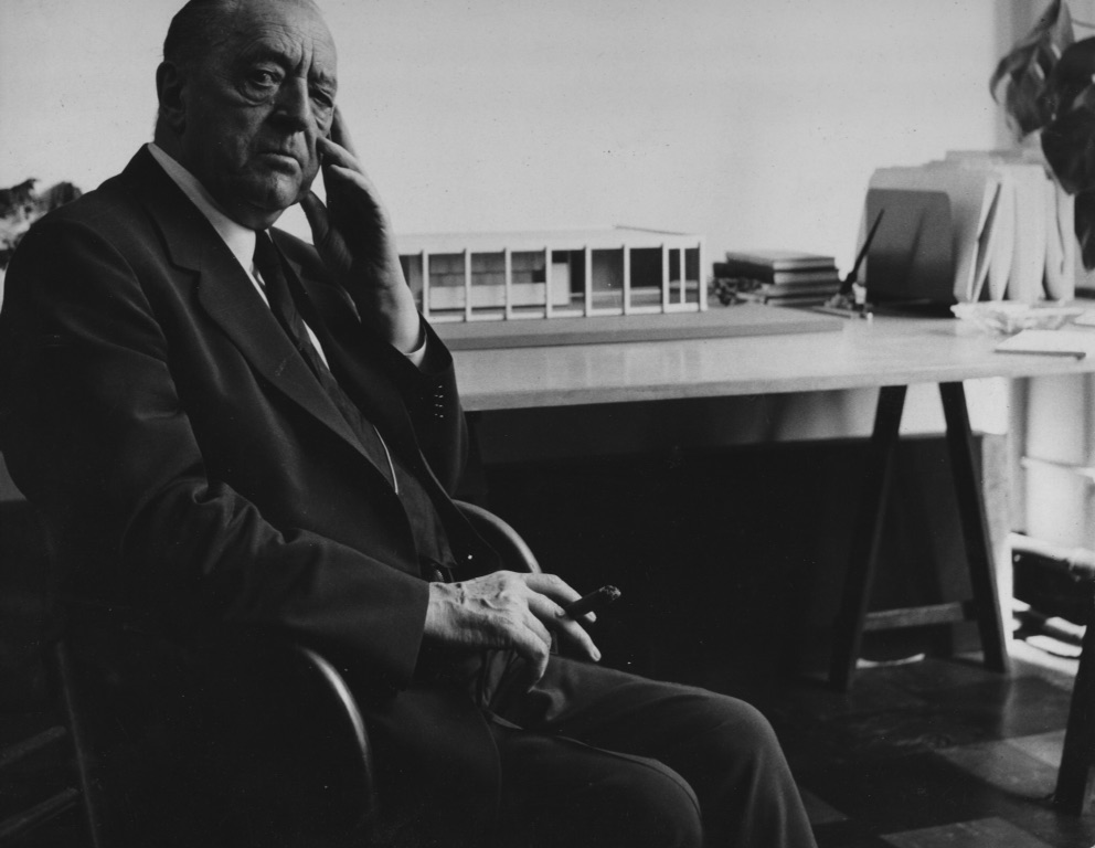 Mies van der Rohe by Harry Callahan Chicago 1944
