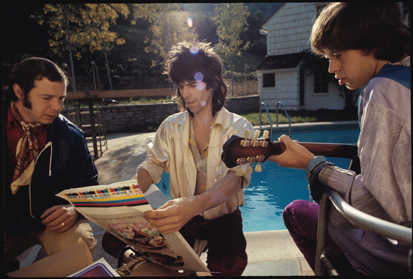 Rolling Stones with Let It Bleed cover proof Los Angeles 1969