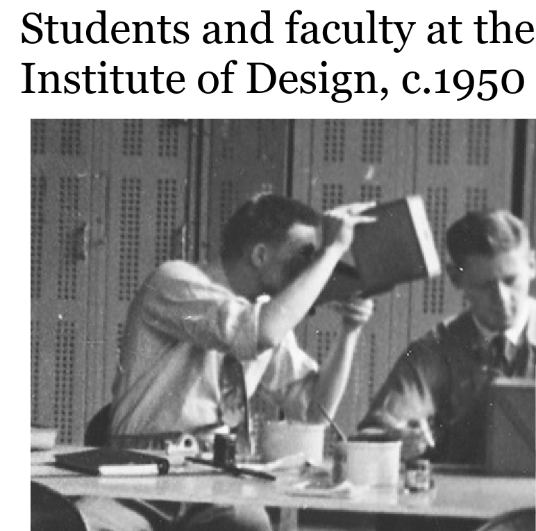 BJ Teaching at Institute of Design Chicago 1950