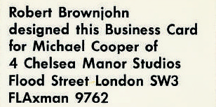 Michael Cooper Stationery - London 1967