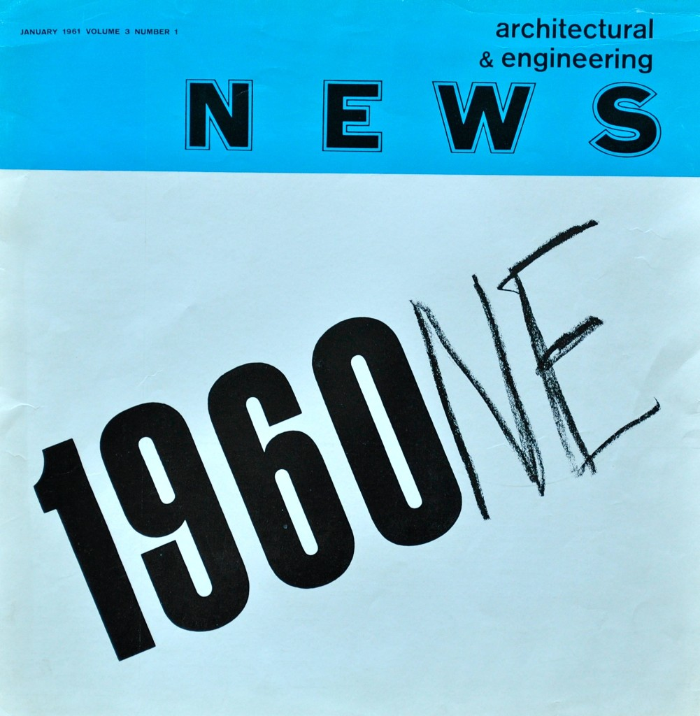 Architectural Engineering Magazine Cover London 1961
