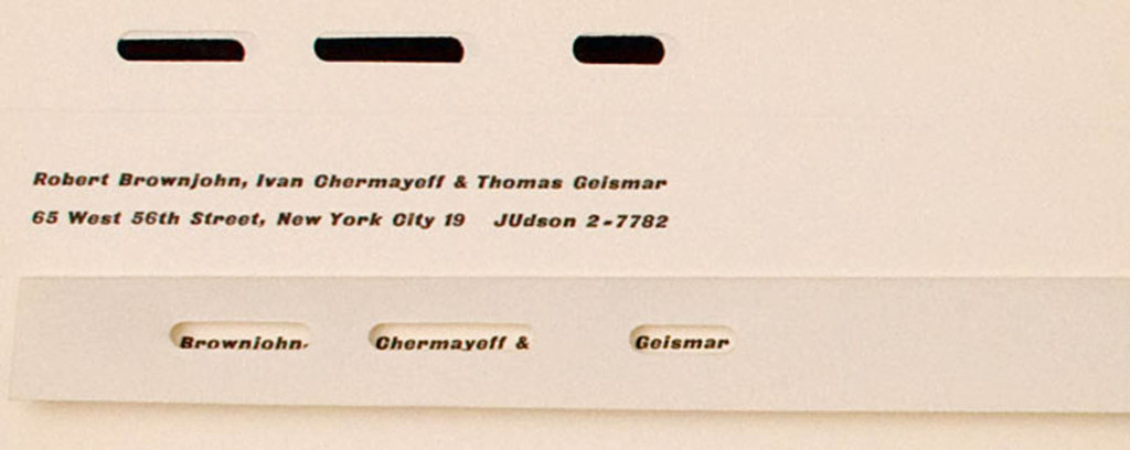 Brownjohn Chermayeff Geismar New York 1950s