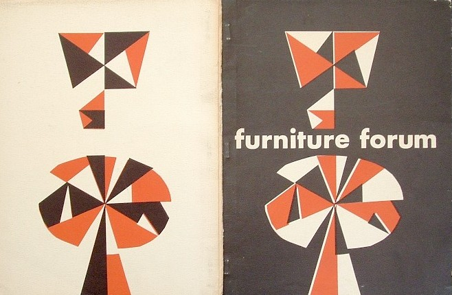 Superieur Furniture Forum Magazine Cover New York 1950u0027s