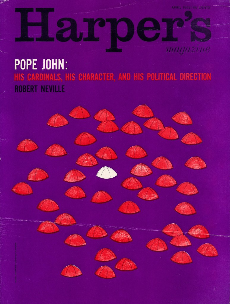 Harpers Pope John Magazine Cover New York 1950's