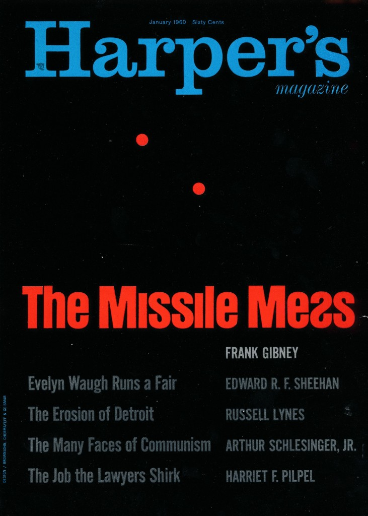 Harpers: The Missile Mess Magazine Cover New York 1950's