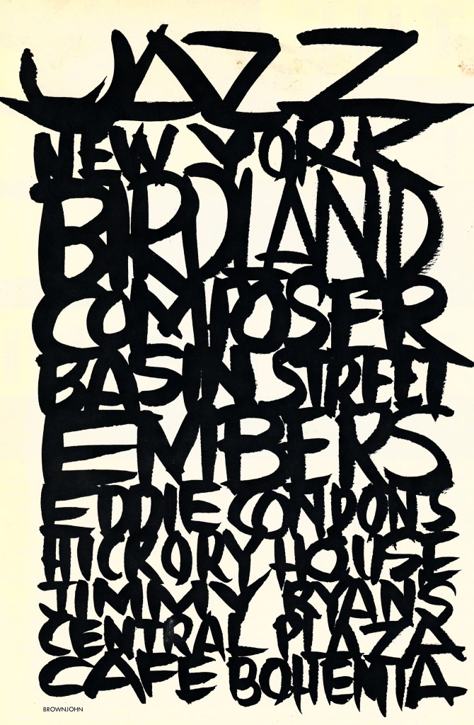 Jazz New York Bridland Poster New york 1950's