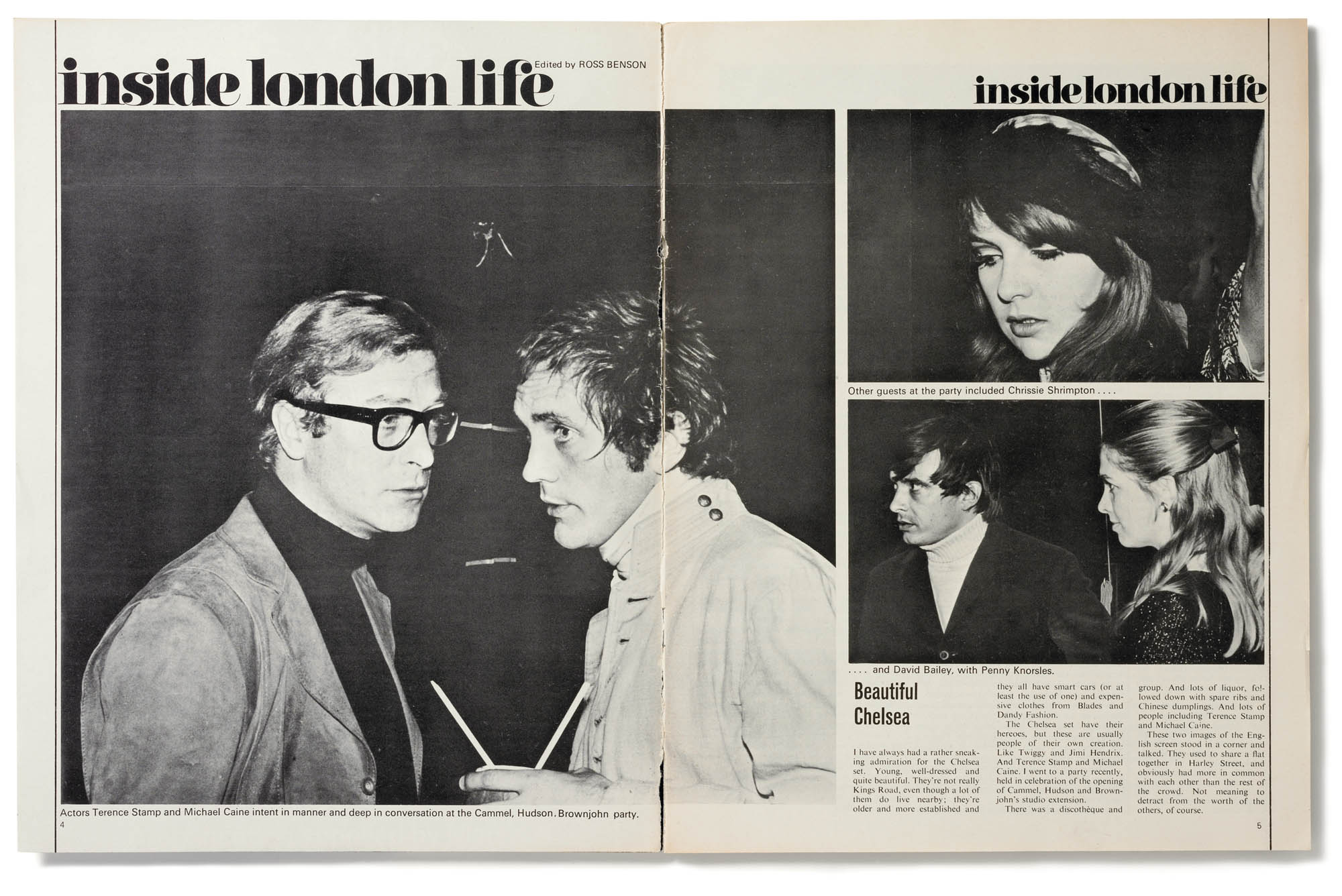Michael Caine and Terence Stamp article London 1960's
