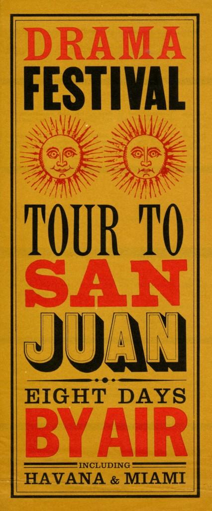 San Juan Festival Poster New York 1950's