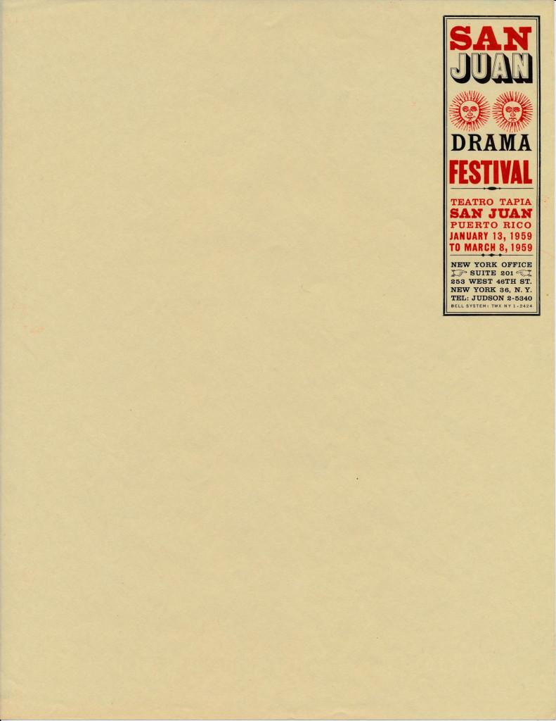 San Juan Festival New York 1950's