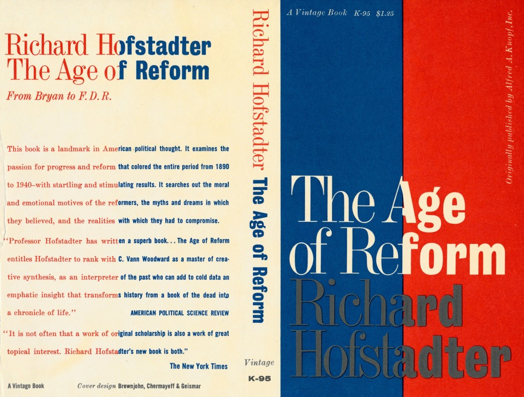 The Age of Reform Book Cover New York 1950's