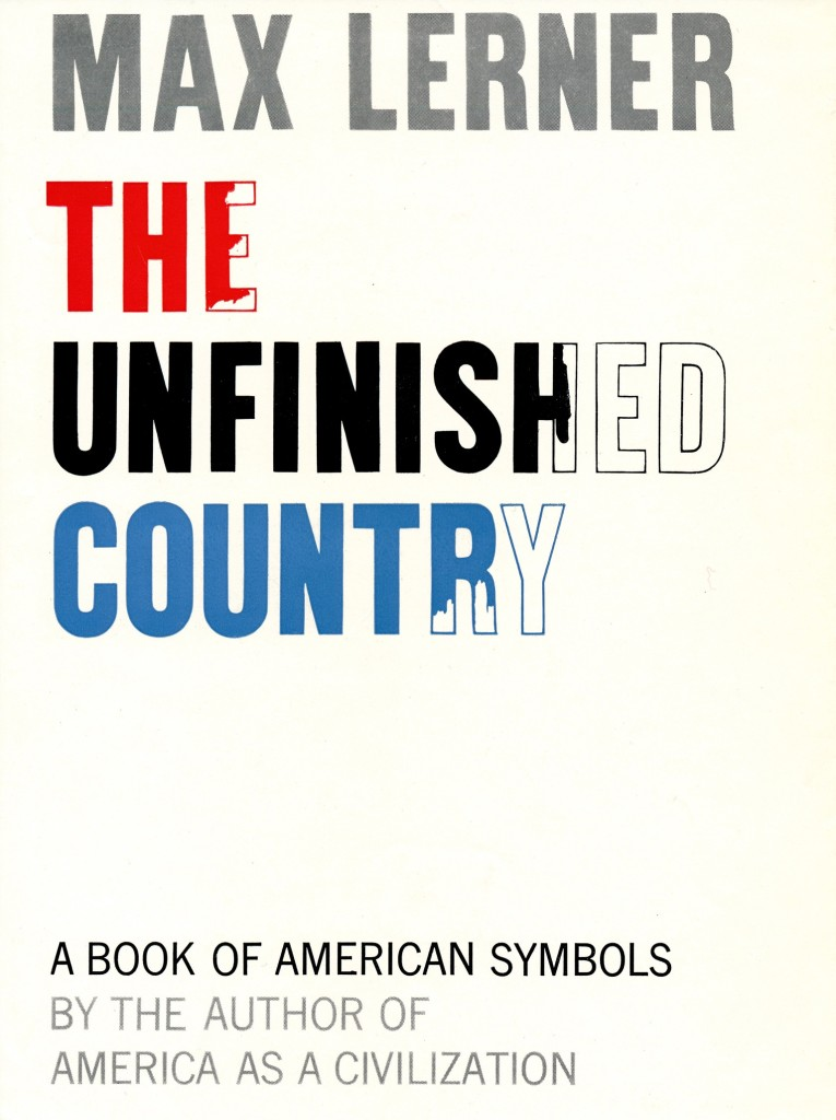 The Unfinished Country Book Cover New York 1950's