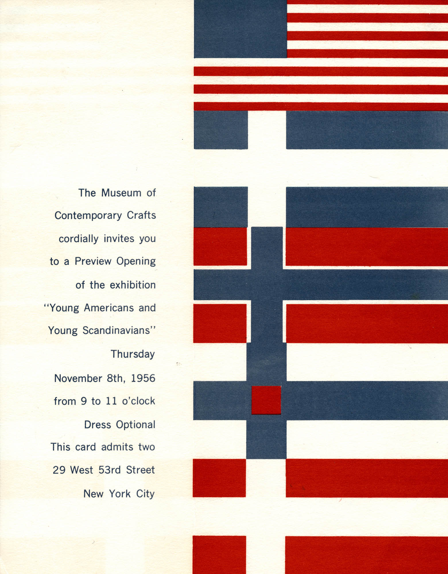 Museum of Contemporary Crafts - Flyer New York 1950's