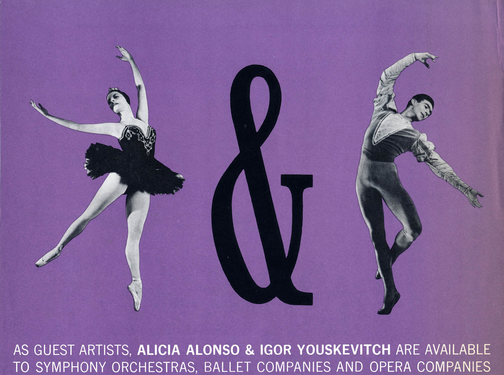 Alonso & Youskevitch Announcement New York 1950's