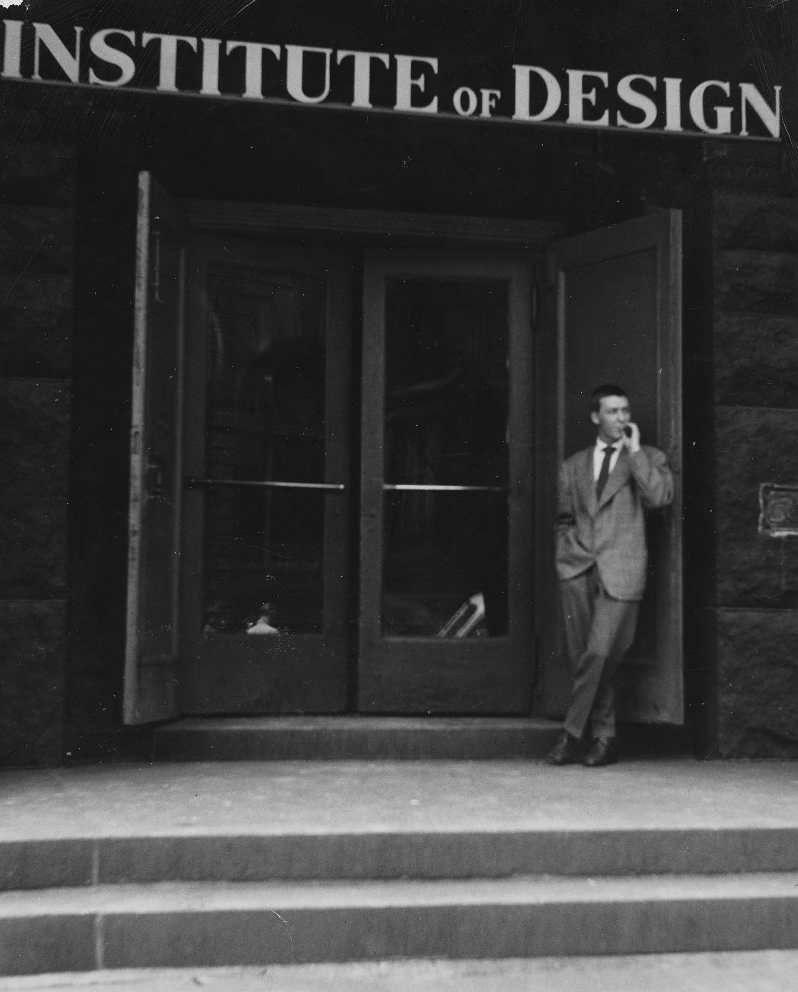 BJ outside of Institute of Design Chicago 1944