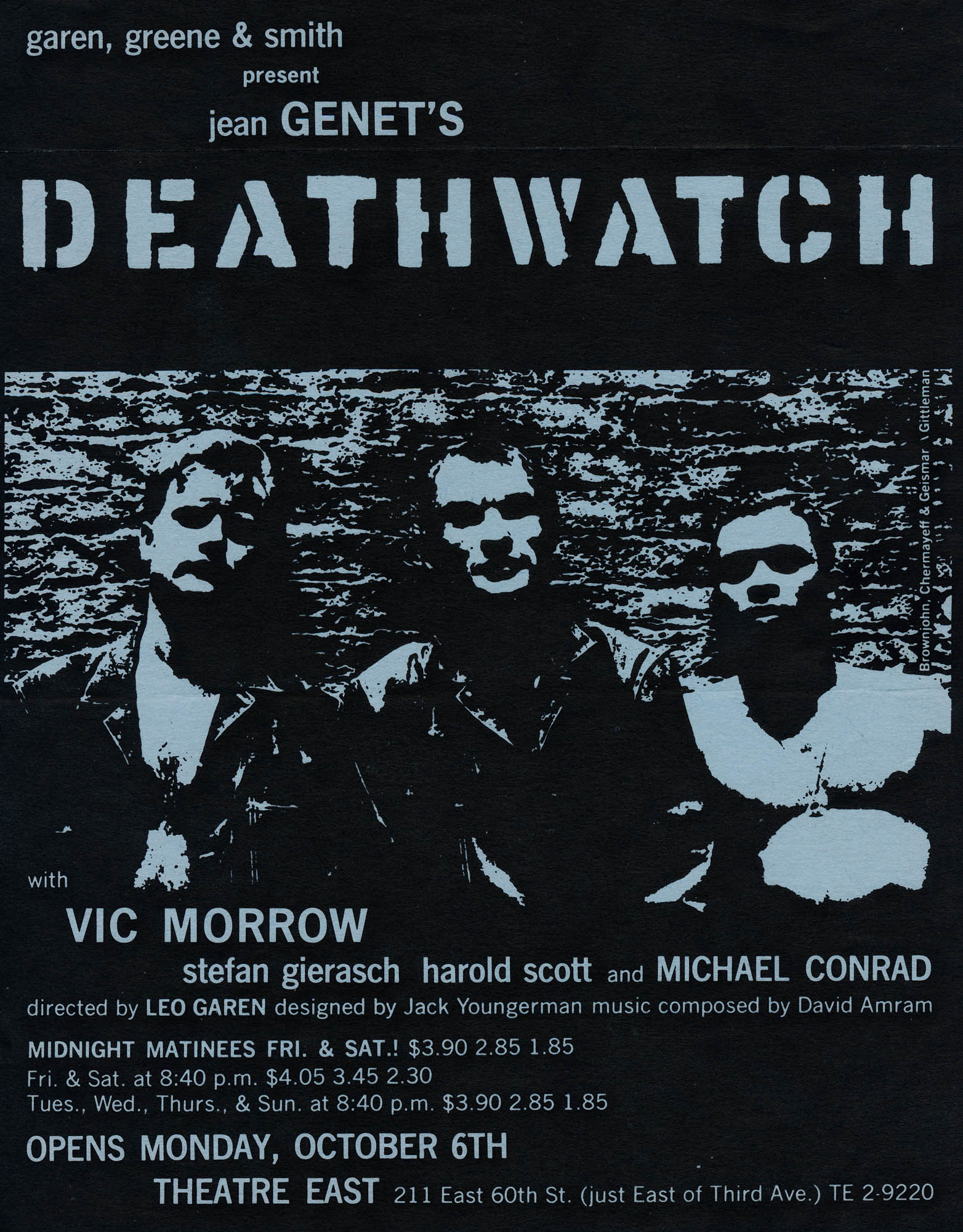Deathwatch Play - Flyer New York 1950's