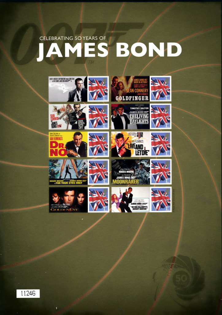 james bond stamps