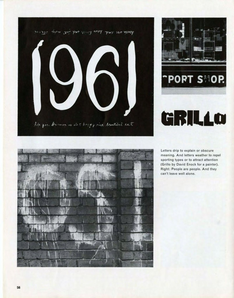 Street Level Feature in Typographica - Read all the descriptions on all the pages London 1962