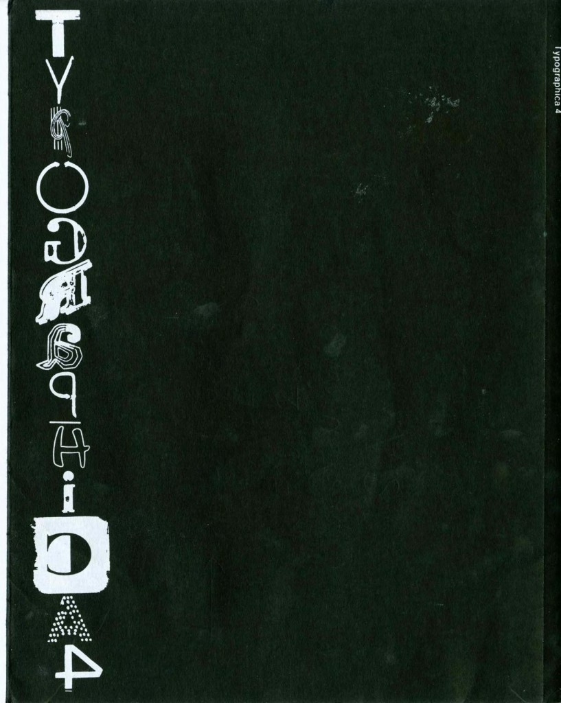 Typographica 4 back cover by BJ