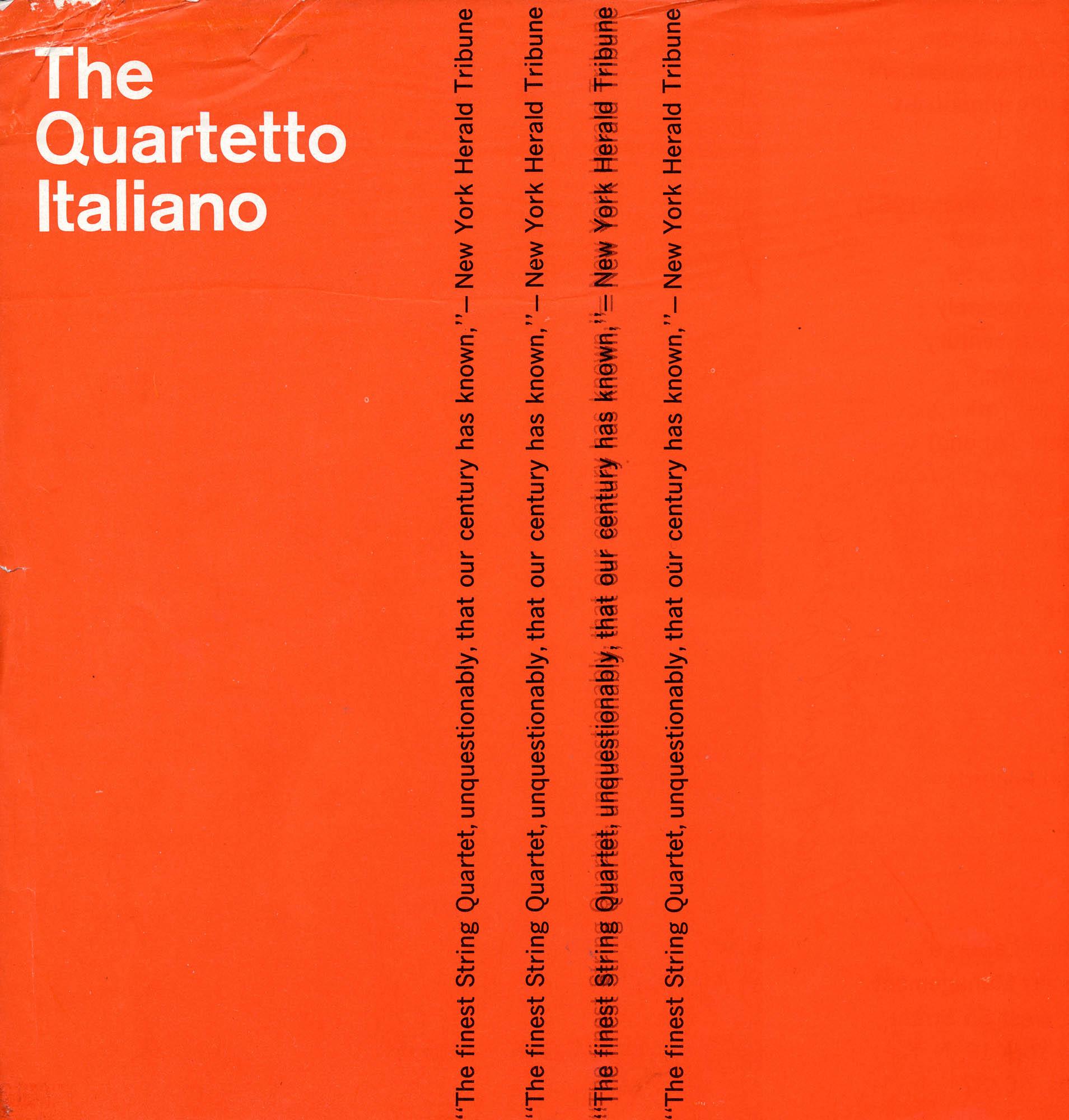 The Quartetto Italiano - Flyer New York 1950's