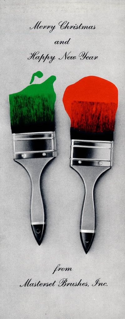 xmas paintbrushes