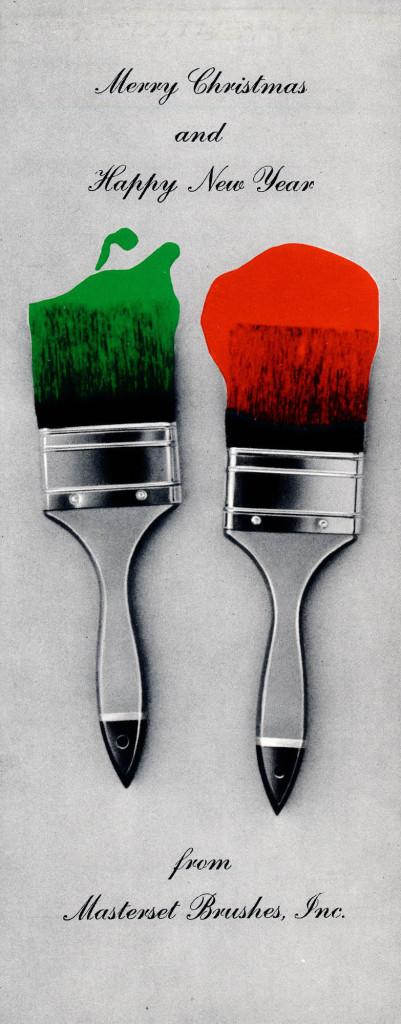 xmas paintbrushes